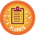 For all my April planning, I earned this NaNoWriMo Planner badge!