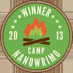 Camp-NaNoWriMo-2013-Winner-Campfire-Circle-Badge