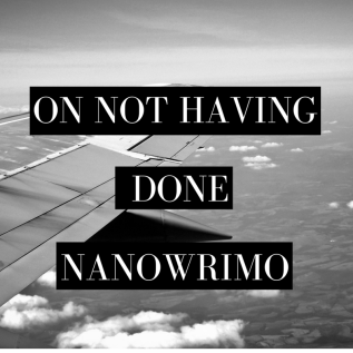 on not having done nanowrimo